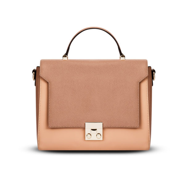 Cassandra Satchel In Blush/Peach