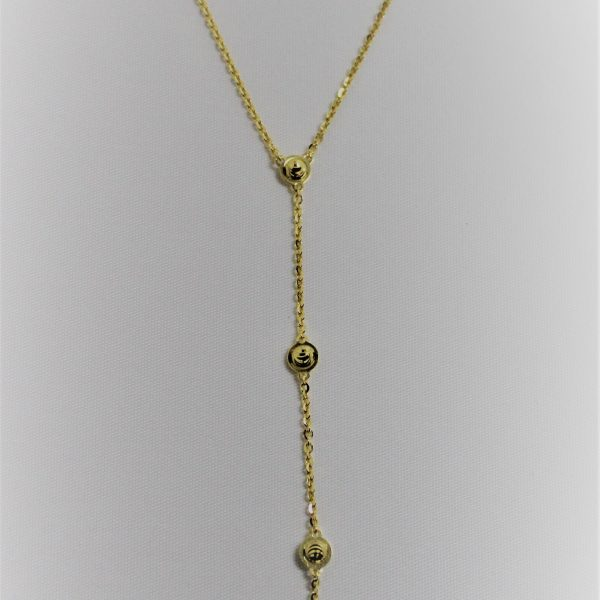 18k Yellow Gold Sterling Silver Officina Bernardi Essential Y Necklace