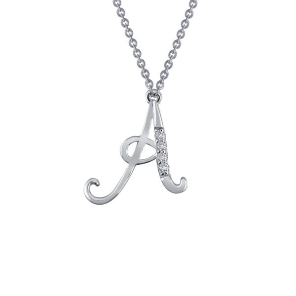 "Sterling Silver Lafonn Initial ""A"" Necklace"