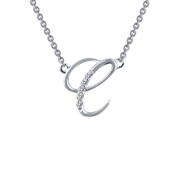 "Sterling Silver Lafonn Initial ""C"" Necklace"