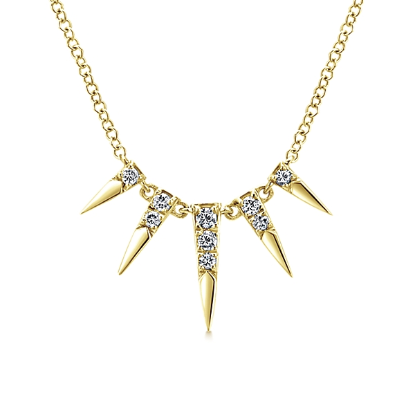14K Yellow Gold Gabriel & Co. Spike Necklace
