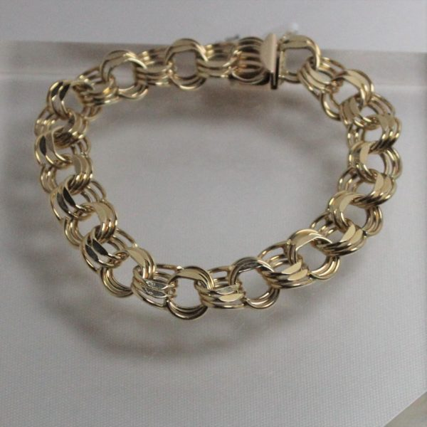14K Yellow Gold Estate Charm Bracelet