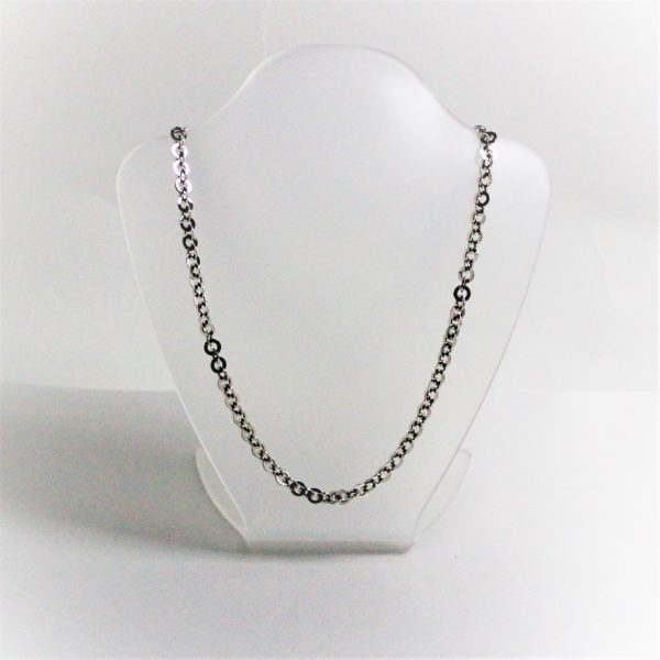 14K White Gold Circle Chain