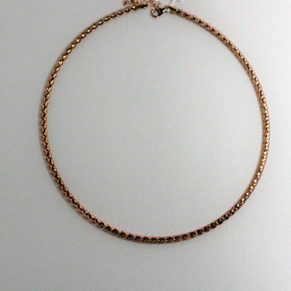 14K Rose Gold Birdcage Collar