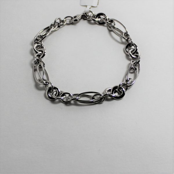14K White Gold Fancy Link Bracelet