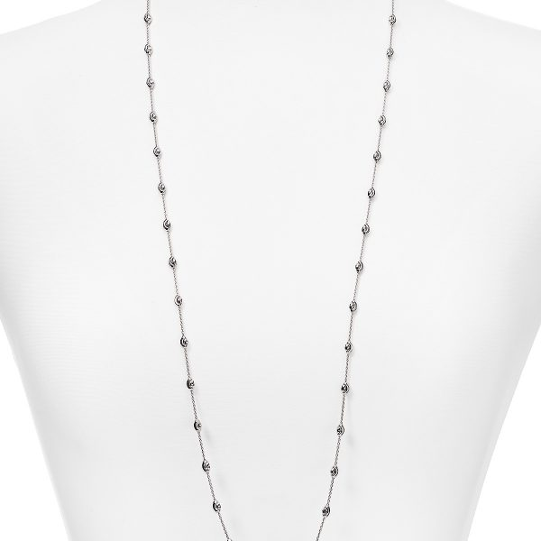 Sterling Silver Officina Bernardi Moon Bead Necklace