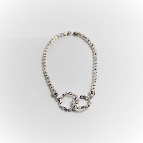 Sterling Silver Officina Bernardi Double Circle Stretch Bracelet