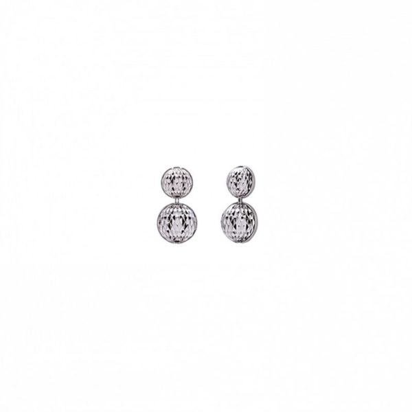 Sterling Silver Officina Bernardi Mimas Drop Earrings