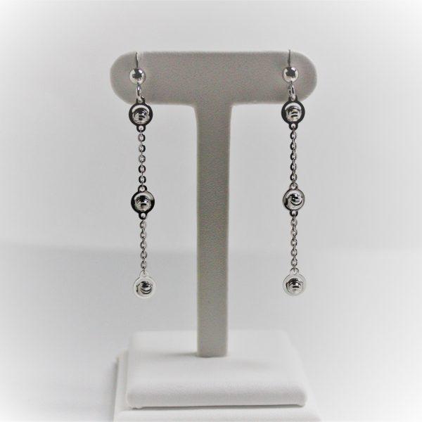Sterling Silver Officina Bernardi Essential Straight Drop Earrings