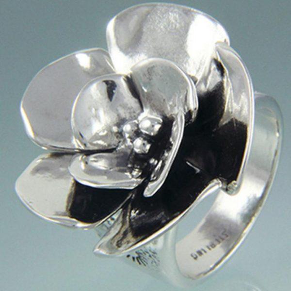 Sterling Silver Sherry Tinsman Large Dogwood Ring