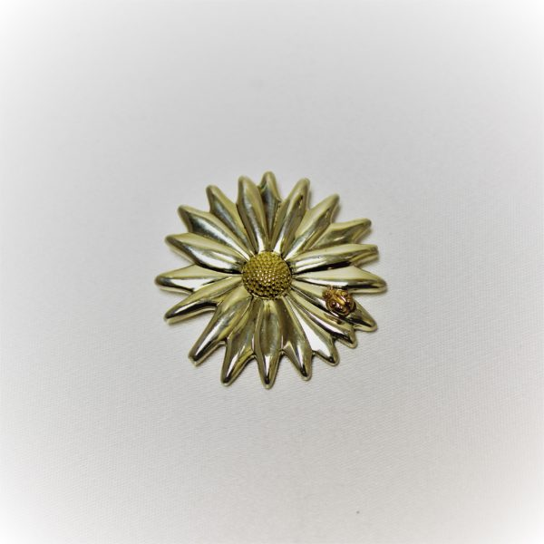 Tiffany & Co. Sterling Silver and 18K Estate Brooch
