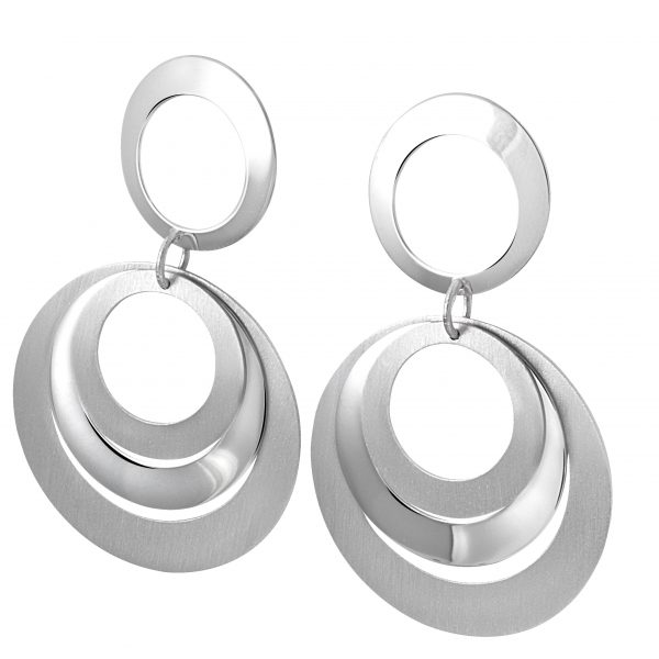 Frederic Duclos Sterling Silver Circle Earring