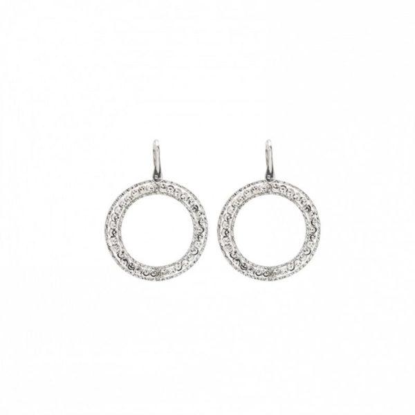 Sterling Silver Officina Bernardi Large Circle Earrings