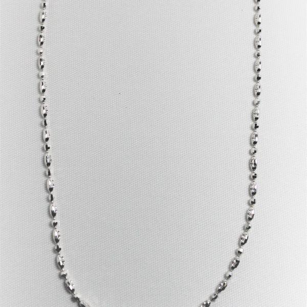 Officina Bernardi Sterling Silver Beaded Necklace