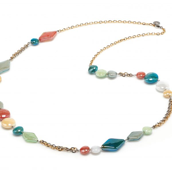 Avogaria Necklace in Multi Pastel Colors