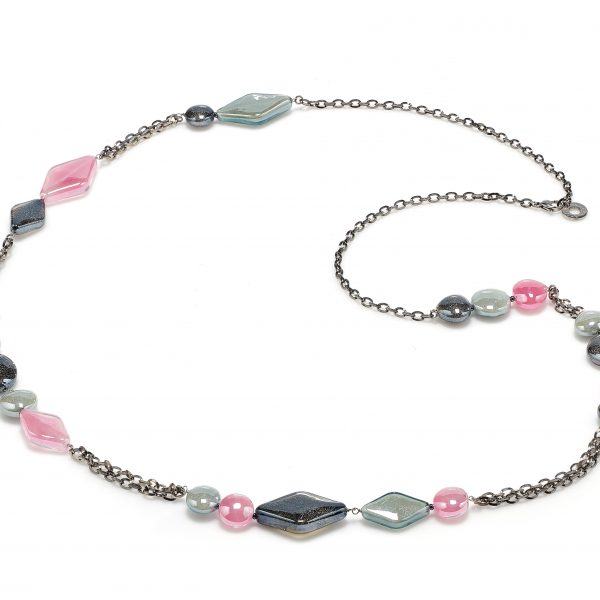 Avogaria Necklace in Pink and Black