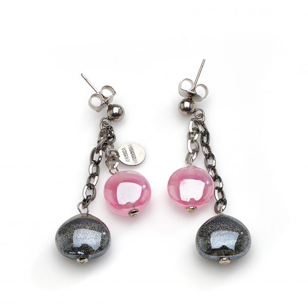 Avogaria Earrings in Pink and Black