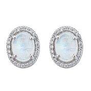 Sterling Silver Aquila Moonstone Stud Earrings
