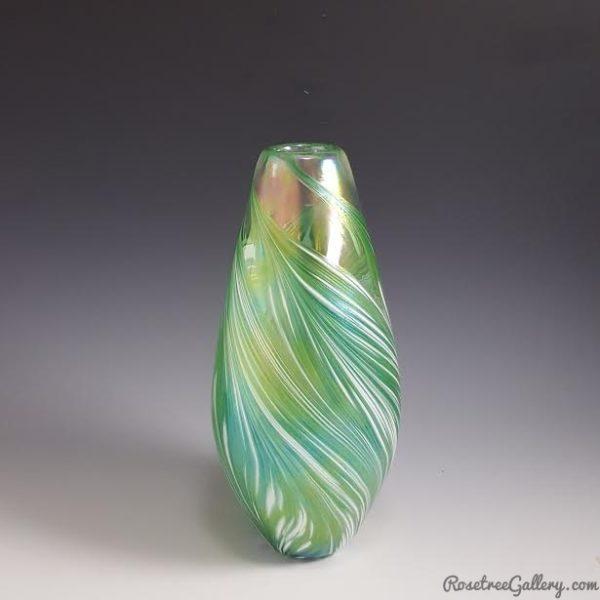 Narrow-Petal-Vase-Green
