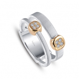 Two-tone Sterling Silver Milano Ring