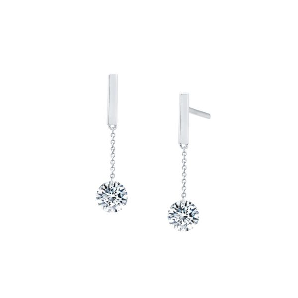 Sterling Silver Contemporary Drop Earrings