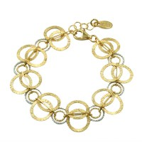 Sterling Silver & Gold Frederic Duclos Bracelet
