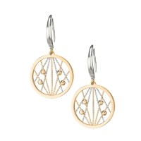 Sterling Silver Frederic Duclos Circle Dangle Earrings