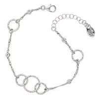 Sterling Silver Frederic Duclos Circle Bracelet