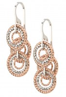 Sterling Silver Frederic Duclos Circle Drop Earrings