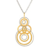 Sterling Silver  Frederic Duclos Circle Necklace