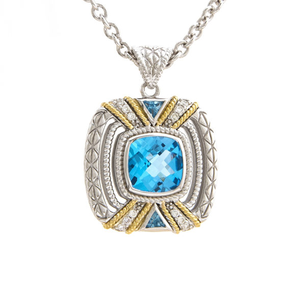 Sterling Silver and 18K Andrea Candela Necklace