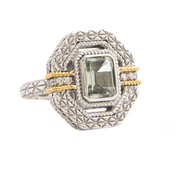 Sterling Silver and 18K Gatsby Ring